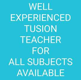 3years of experience.. in all subjects upto higher secondary level.