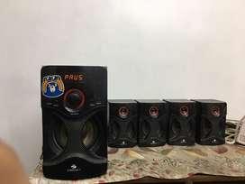 Bluetooth Speakers (Radio + Aux + pendrive)