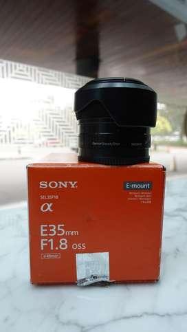 Lensa SONY E 35mm F1,8 OSS