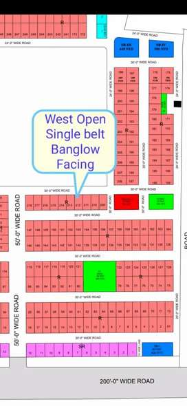 R-212 Single Belt West Open on 3 Years Installment North Town Phase 3