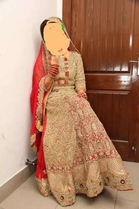 Designer wear bridal dress 10/10 condition