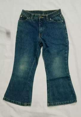 Celana jeans Anak Import Japan Pinggang karet Size 110 Untuk 5-7 tahun