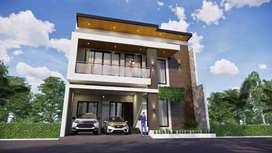 Dijual Rumah Mewah Pusat Kota Jombang Akses Kolam Renang