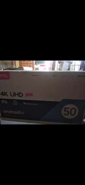 Android tv TCL 50A8, new  segel grs 3 thn=4.949.000