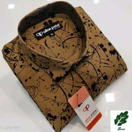 Trendy Cotton Printed Men's Shirt(This is online product)