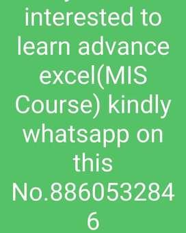 Advance excel (MIS)