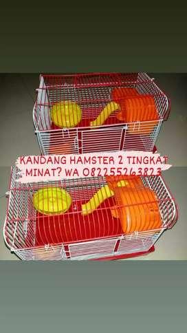 Kandang Hamster 2 tingkat lengkap