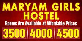 Full on furnished hostel Girls hostel available for rent.