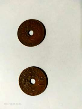 Koin 1 cent 1945