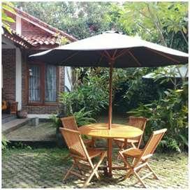 Meja payung pantai, kolam, tempat wisata, kantin, vila, resto, taman
