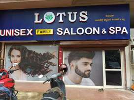 Unisex spa and saloon