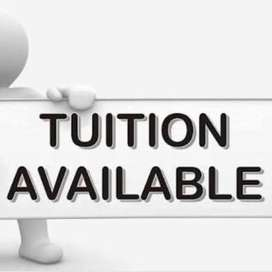 Tution available for class 1st to 12th