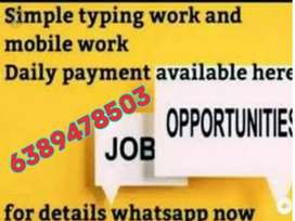 Jobs for Indian people in any state earn money