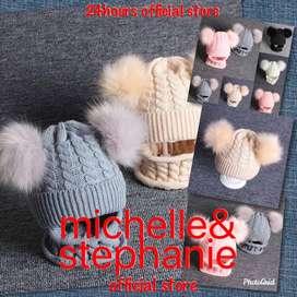M&S ICTK22-Syal Hangat + Topi untuk Musim Dingin