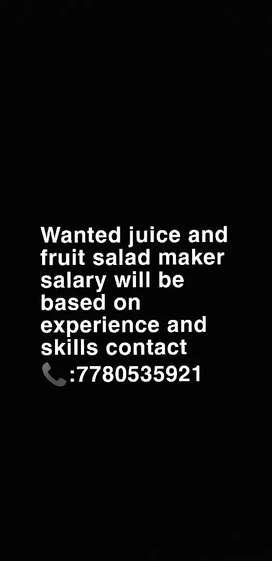 Urgent need juice maker man