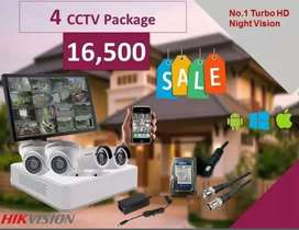 WiFi cctv camera complete package with installation and warranty 2 MP