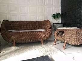 Kursi rotan asli , sofa rotan asli , meja rotan asli
