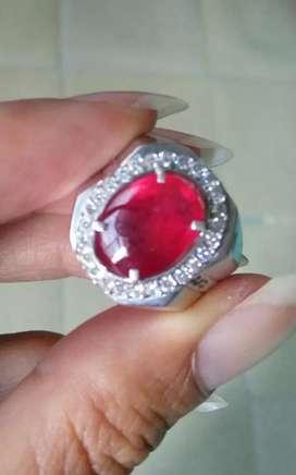 Natural ruby cabochon