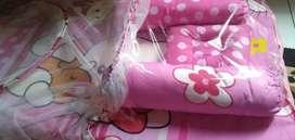 Kasur bayi bantal guling kelambu mainan