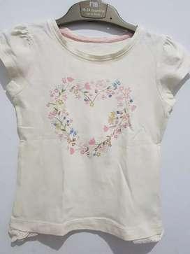 Kaos anak perempuan mothercare