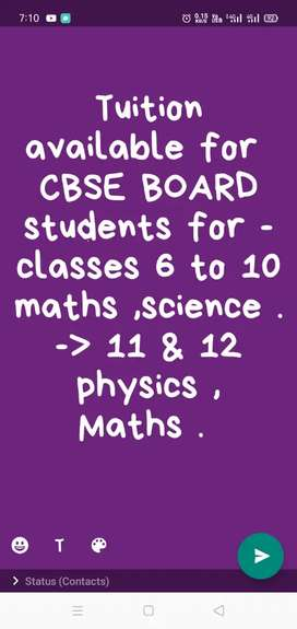 CBSE TUITON CLASSES for class 9th to 12th