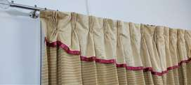 Curtains with stitched frills