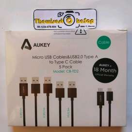 Aukey Cable CB TD2 Micro USB and Type-C USB C Cable isi 5 biji kabel