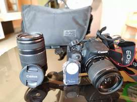 Canon 700D with two lenses.