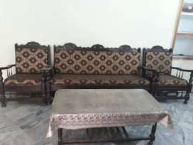 Sofa, Chairs, Bed and Showcase for sale