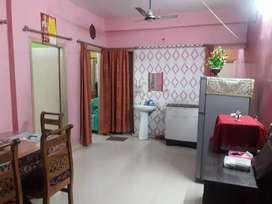 AC, Gijar and bed given with the Flat. And fully furnished