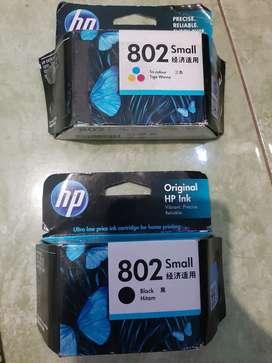 Tinta HP tipe 802 Black n Colour New
