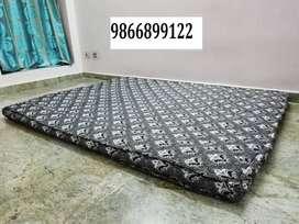 White Cotton mattress, plastic chair for sale at  Nizampet X roads
