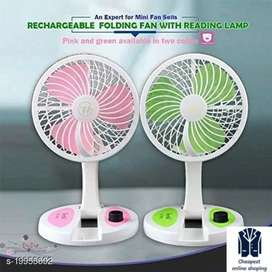 Foldable table fan _rechargable (Free delivery)