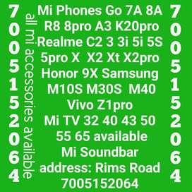 Mi Realme Samsung Vivo phones and Tv