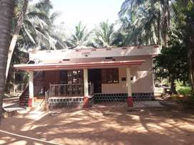 Semi furnished double bedroom independent house at Kundapura.