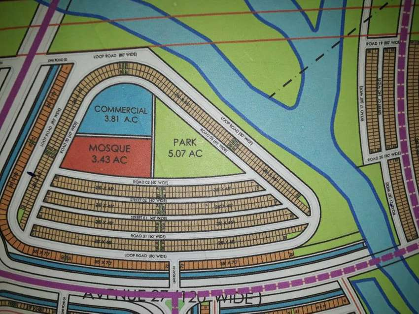 precinct 32C 125sq yard road plot bahria town karachi 0