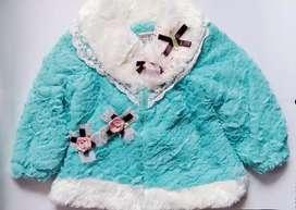 Jaket Mantel Bulu Anak Import BLUE & PINK
