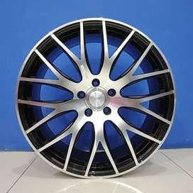 Free Ongkir Velg Mobil HSR Wheel Ring 20 NIFTY H5X114,3 Black Machine