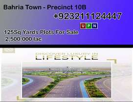 Plot for Sale 125Sq Yards Bahria Town - Precinct 10B, Sindh, Karachi