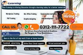 Earn today from tomorrow/home based data entry job