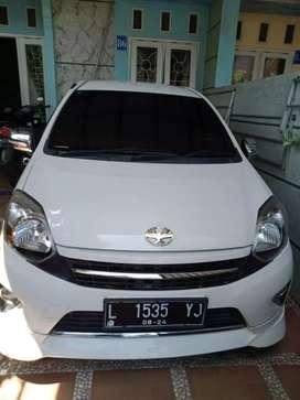 Dijual Agya Type G Matic 2014 Putih Ciamik