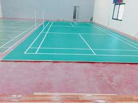 Badminton court imported PVC and Jym rubber tile