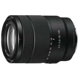 Sony E 18-135 mm f/3.5-5.6 OSS Lens (SEL18135 SYX, Black)