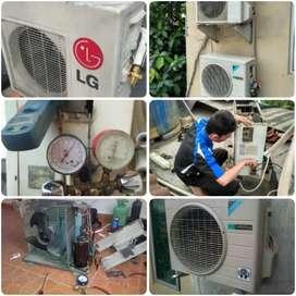 Kontrakan service AC bongkar pasang AC dll