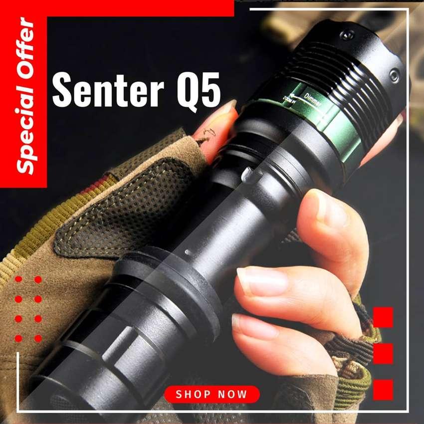 Q5 Senter Kuning Flashlight Kuning