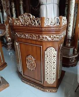 Beli mimbar masjid dan mimbar dan podium masjid ukiran Galeri Mebel