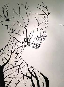 Creative wall painting and Portrait Drawing