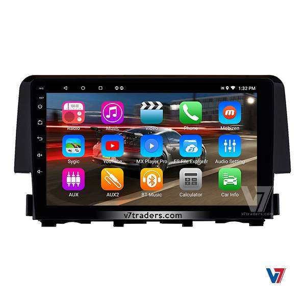 V7 Honda Civic 2017-18 Navigation android player 10 inch lcd screen 0