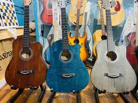 Acoustic Guitars Rock Matt Finish Sound High Quality Best for learning