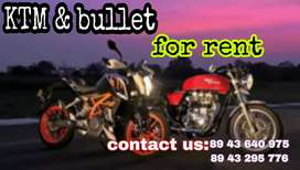 KTM & BULLET  Rs 1100 only